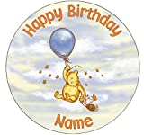 Winnie The Pooh Classic Inspired Edible Icing Cake Topper Precut - Personalised (1. Round 7.5in)