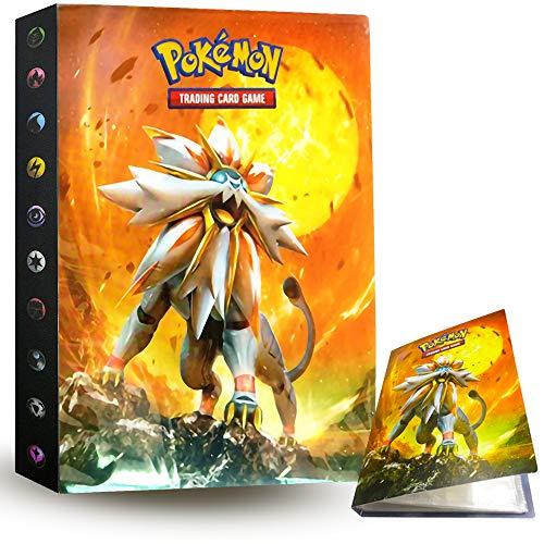 ZoneYan Álbum de Pokemon Album Pokemon, Album de Cartas Pokemon , Album de Cartas Coleccionables, Carpeta Cartas Pokemon, Album Pokemon Cartas , 30 Páginas, hasta 240 Tarjetas (Dios del Sol)