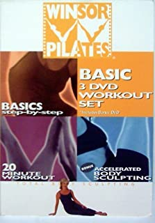 Winsor Pilates Basic 3 DVD Workout Set, Basic Step-by-step, 20 Minute Workout, Accelerated Body Sculpting [DVD]