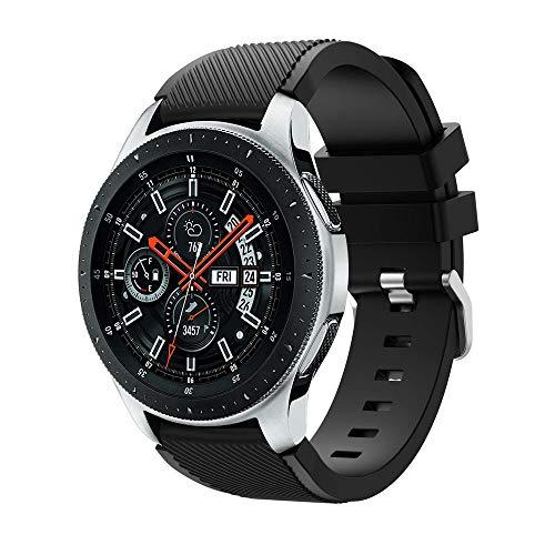 Riou Correa para Reloj,para Samsung Galaxy Watch Correa de Banda de reemplazo de Correa de Reloj de Silicona Suave Pulseras de Repuesto 46mm