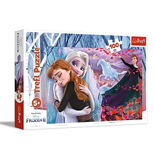 Trefl, puzzle per sempre insieme, 100 pezzi, Disney Frozen 2, per bambini dai 5 anni in su.