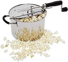Time for Treats VKP1160 StovePop Stove-Top Popcorn Popper, 6 Quart, Stainless Steel