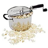 Time for Treats VKP1160 StovePop Stove-Top Popcorn Popper, 6 Quart, Stainless Steel