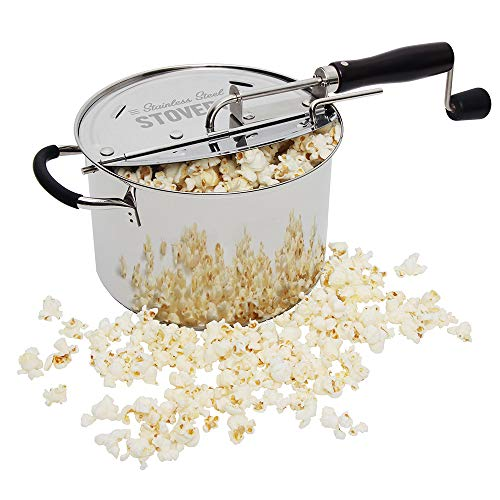 %43 OFF! Time for Treats StovePop Stove-Top Popcorn Popper, 6 Quart, Stainless Steel