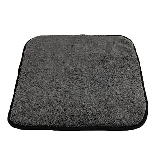Toallas de secado de toallas de toalla de micro espesor ultra espesor Toallas de detinación de automóviles Pulido de limpieza Microfibra de lavado de autos Accesorios de tela ( Color : 1 pack(black) )