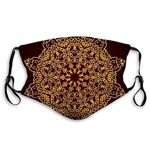 Mundschutz Gesichtsschutz Wiederverwendbarer waschbarer Schildschal (2 Filter) Traditionelles persisches Türkisch