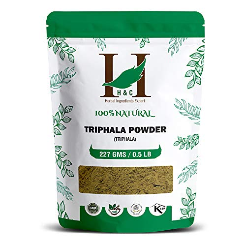 H&C Triphala (Amla : Bibhitaki : Haritaki) Churna/Powder - 227g | for Gastro Intestinal Health Wellness