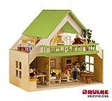 Rülke Holzspielzeug 23194 Puppenhaus, holzfarben, pink