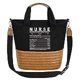So'each Women's Handbag Excellent Nurse Tote Graphic Crossbody Shoulder Bag Black