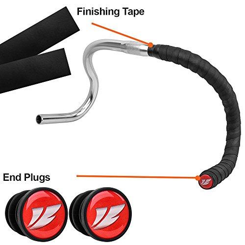 BV EVA Road Bike Han   dlebar Tapes, Bicycle Bar Tape, Cycling Handle Wraps – 2 Rolls per Set (Black)