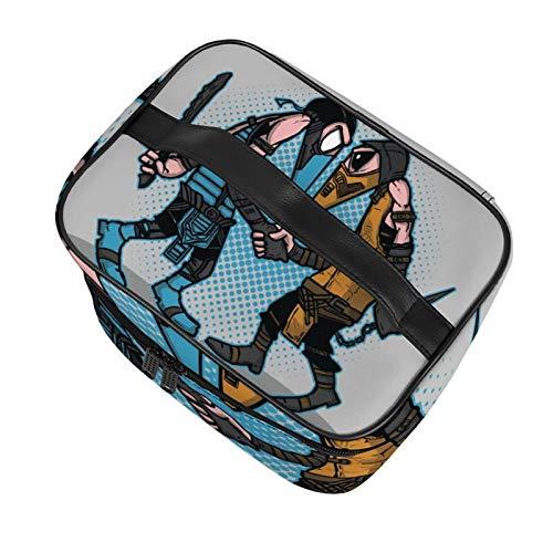 Spies Sub Zero Vs Scorpion Spy Vs Spy Lovely Travel Makeup Multifunctional Bag Cosmetic Portable wash Bag Makeup Storage Bag Girls