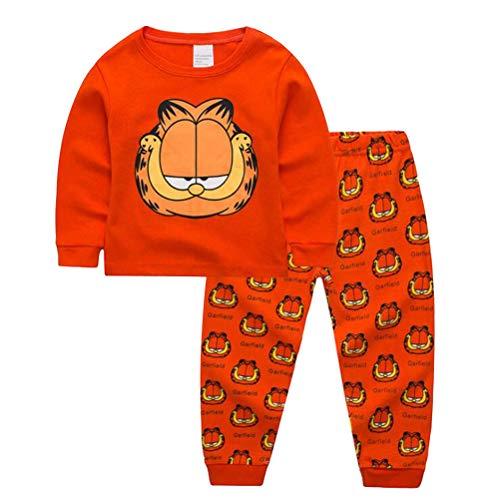 Rling Boys Pants 2 Piece Pajama Set 100% Cotton ,Size 3-6Yrs (Garfield, 5t)