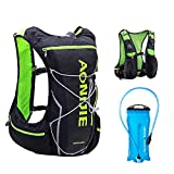 TRIWONDER Hydration Pack Backpack 10L Deluxe Running Race Hydration Vest Outdoors Mochilas for Marathon Running Cycling Hiking (Black&Green - with 2L Water Bladder, M-L)