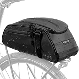 Eyein Bike Rear Rack Bag, Waterproof Reflective Bicycle Pannier Rear Seat Storage Bags, 8L Multi Pockets Cycling Trunk with Taillight Loop, Saddle Pouch with Sholder Strap for MTB Bikes Commute Travel