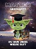 Bestandene Prüfung - DinA4 Karte als Glückwunsch zum Master Abschluss Geschenk auch zum Bachelor oder Anlässe, wie: Examen/Promotion/Matura als Arzt, Doktor oder Jurist | personalisierbar