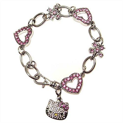 Braccialetto scintillante con cristalli austriaci Hello Kitty, 22 cm
