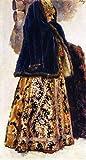 Vasili Ivanovich Surikov Boyaryshnia in a Violet Quilted Jacket Study 1886 Tretyakov Gallery Moscow 24' x 13' Fine Art Giclee Canvas Print (Unframed) Reproduction
