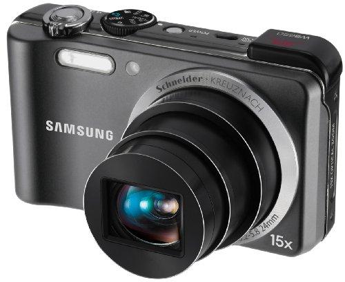 Samsung WB650 Digitalkamera (12 Megapixel, 15-Fach Opt. Zoom, 7,62 cm AMOLED, GPS Tagging, Bildstabilisierung, Weitwinkel) grau