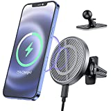 Magnetic Wireless Car Charger for iPhone 13/ iPhone 13 Por/iPhone 13 Pro Max /iPhone 12/12 Pro/ 12 Pro Max / MagSafe Cases ,15W Fast Charging Mount Vent Air Dashboard Car Charger Phone Holde