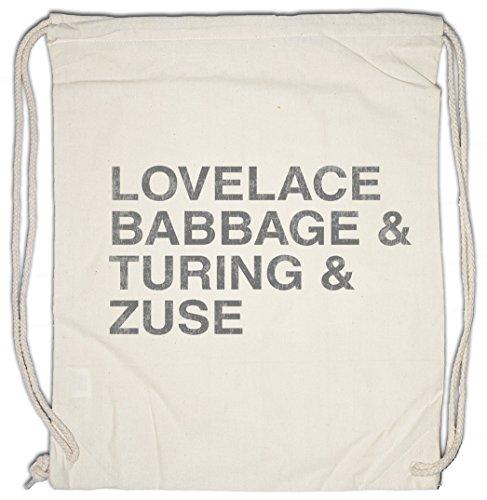Urban Backwoods Lovelace & Babbage & Turing & Zuse Turnbeutel Sporttasche