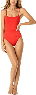 Women's Shirred Maillot Solid One-Piece Swimsuit