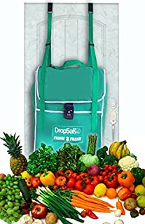FIRST EVER Grocery Delivery DropSak Fresh - Front Door Hanging Thermal Soft Drop Box. Perfect for Amazon Fresh, Fresh Direct, Whole Foods, Peapod,etc.