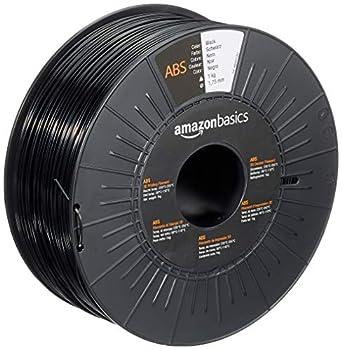 Amazon Basics ABS 3D Printer Filament 1.75mm Black 1 kg Spool