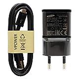 Chargeur Rapide Samsung EP-TA20EBE - Couleur : Noir - avec câble de Charge Micro USB - Câble de...