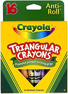 Crayola Triangular Crayons, Box of 16