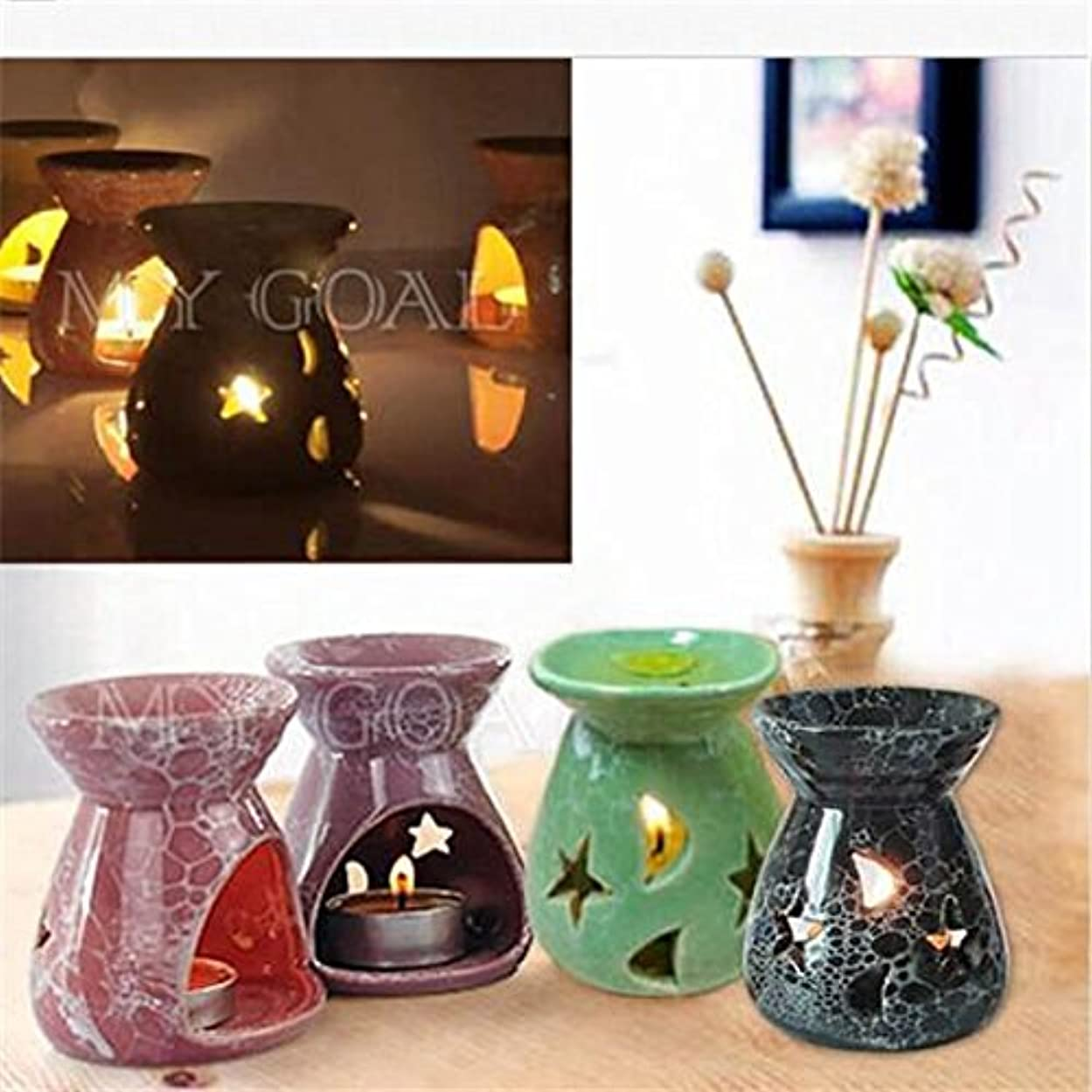 タッチ耕す観察Hot Sale Ceramic Fragrance Oil Burners Lavender Aromatherapy Scent Candle Essential Gift Olio In ceramica Candle Natale Regalo