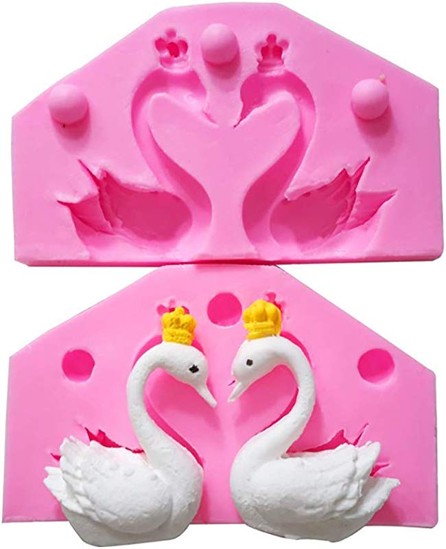 3D Beauty Swan Silicone Molds Chocolate Candy Making Mold Fondant Molds For Cake Cupcake Decoration