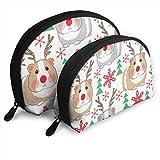 Rudolph Meerschweinchen Weihnachtssack Muschelform tragbare Aufbewahrungstasche Luxus Kulturbeutel