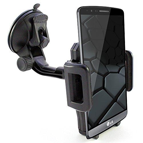 KFZ Auto Halterung z.B. kompatibel mit [LG Q8 Q7 Q6 G7 G6 G5 G5 G4 G3 G2 V30 V20 V10 K30 K20 K11 K10 K8 K7 K5 K4 G Q Stylus Stylo 4 3 2 X power screen | ThinQ Fit One SE Dual S mini Plus] Handyhalter