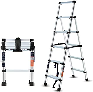 Folding Ladder Portable Aluminum Alloy Thickened Engineering Folding Ladder Multifunctional Lifting Stairs Step Ladder for...