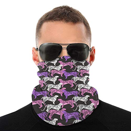 qinzuisp Headscarf Tukane en tropische palmbladeren Uv-winddichte bedrukking, 25 x 50 cm, ademend, wasbare hoofdband, zachte activiteiten, multifunctionele bescherming voor het gezicht, bandana's in de open lucht