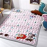 Ommda Alfombra Bebé Actividades Habitacion Suelo Manta de Gateo Tatami Alfombras Salon Acolchadas Antideslizante Lavable,Bosque rosa,145x195cm