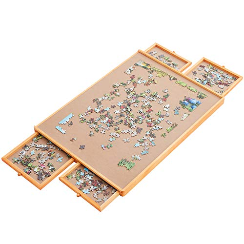 """Standard Size: 29""""×21"""", Upgrade Puzzle Board, Puzzle Table, Puzzle Tables for Adults, Puzzle Boards and Storage, Jigsaw Puzzle Table, Puzzle Tray, Weight: 8.8 LBS (4 KGS)"""