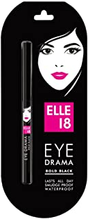Elle 18 Eye Drama Kajal, Super Black- Smudge-Proof, Waterproof, 0.35 g