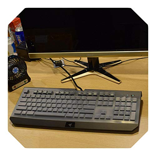 Waterproof and dustproof Transparent Keyboard Skin Cover Protector for Razer Huntsman Elite Gaming Keyboard-Clear-