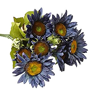FightingFly Artificial Flowers, Silk Fake Sunflowers, 13 Heads Floral Decor Bouquet Indoor Outdoor Wedding Home Office Decoration Festive Furnishing