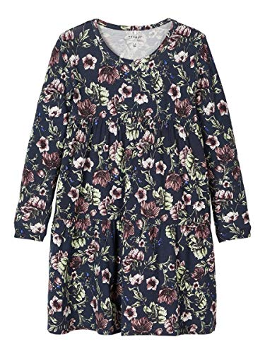 Name It Nmftia Ls Dress Robe, Saphir Foncé, 92 Bébé Fille