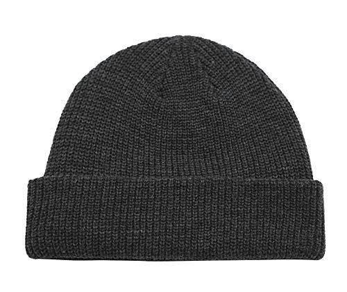 Connectyle Classic Men's Warm Winter Hats Acrylic Knit Cuff Beanie Cap Daily Beanie Hat (Charcoal) ,Medium