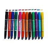 12 Colores de Pintura a Base de Agua Permanente Arte Marcadores Conjunto de lápiz de Piedra Cerámica Madera Vidrio Canva Dibujo para Colorear Resaltado Que Bosqueja