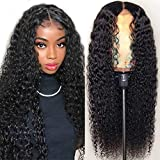 Iris Queen Lace Front Wigs Human Hair Pre Plucked Hairline Brazilian Curly Human Hair Wigs for Black Women 9A 150% Density 4x4 Lace Closure Wigs with Baby Hair (16 inch)