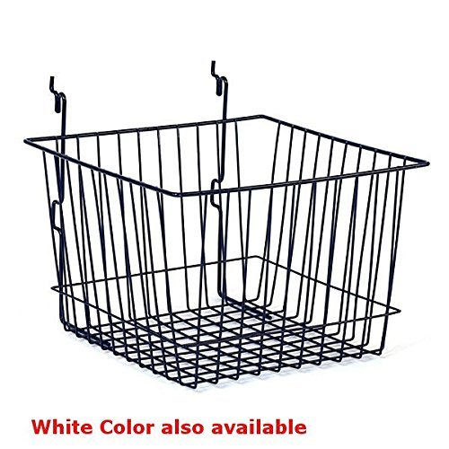 Basket fits Slat Wholesale Grid Department store Pegboard in White D 12 x Inches 8 W