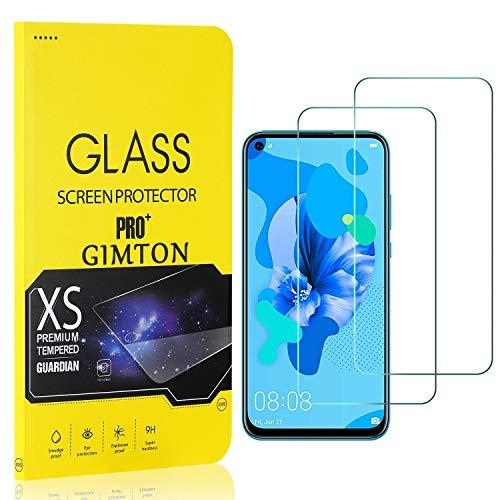 GIMTON Displayschutzfolie für Huawei P20 Lite 2019, 9H Härte, Anti Bläschen Displayschutz Schutzfolie für Huawei P20 Lite 2019, Einfach Installieren, 2 Stück