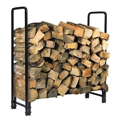 Sale!! KINGSO 8ft Firewood Rack Outdoor Heavy Duty Log Rack Firewood Storage Rack Holder Steel Tubul...