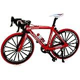 alles-meine.de GmbH 2 Stück _ große - Fahrräder / Bike - E-Bike - rot & schwarz - 18 cm - stabiles Metall - Modell Maßstab: 1:10 - Deko & Spielen - Dekofahrrad - für Kinder & Erw.. -