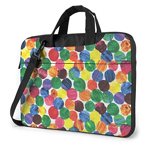 Red Green Yellow Dots Laptop Bag Shoulder Messenger Bag Computer Tote Briefcase for Work School