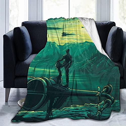 Star Wars Mandalorian - Manta de microfibra ultrasuave para cama y sofá en todas las estaciones de 152 x 150 cm